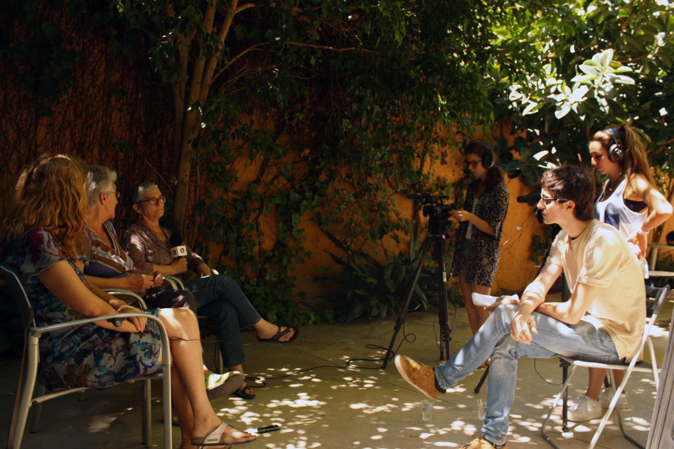 Instant de l'entrevista / PABLO RAMÍREZ