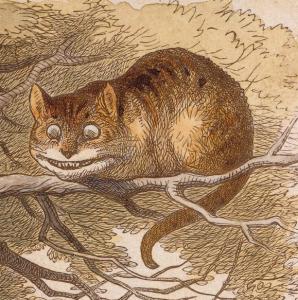 El Gat de Cheshire, il·lustrat originàriament per John Tenniel's