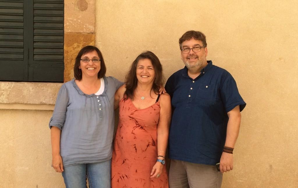 Rosa Ferrer, Patricia Redondo i Carles Gràcia després de la taula rodona