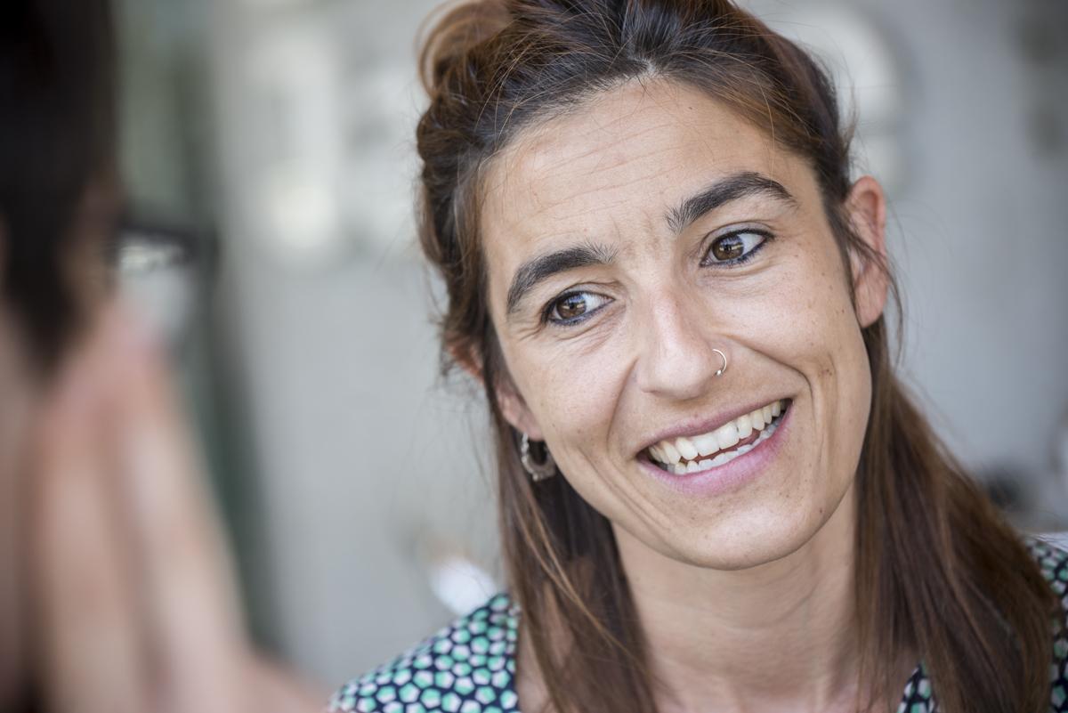 Aina Tarabini, en un moment de l'entrevista / SANDRA LÁZARO