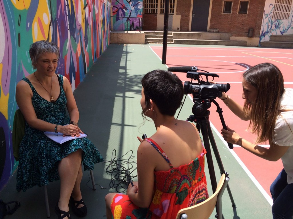 Durante la entrevista a Heike Freire